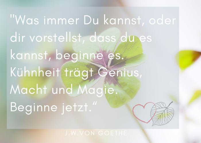 Zitat Goethe Freie Rednerin Maria Lindner